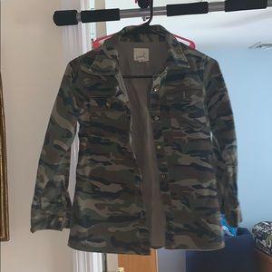 3c85c5ef4 Girls camo jacket with Twitter bird in back